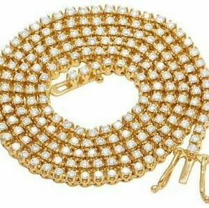 10k yellow gold tennis chain